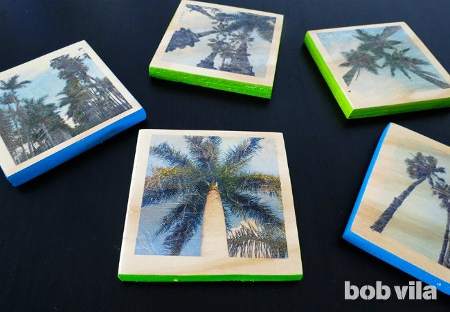 DIY Photo Coasters - Completed
