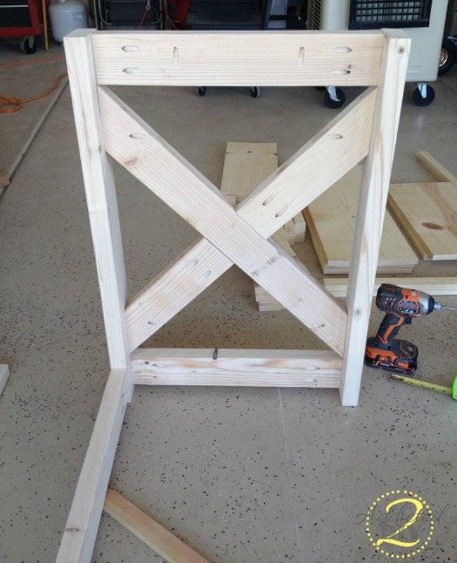 Rustic Craft Room Island Step 1