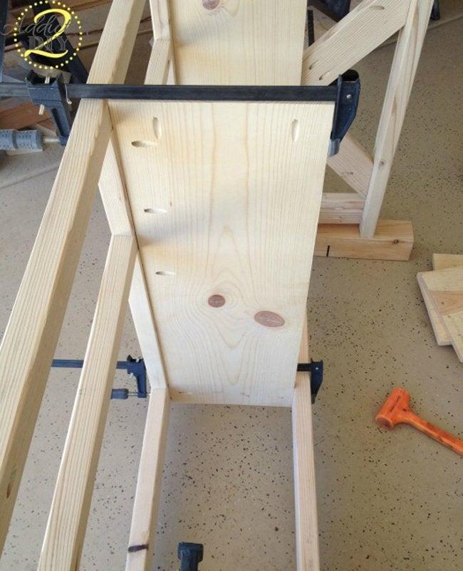 Rustic Craft Room Island Step 2