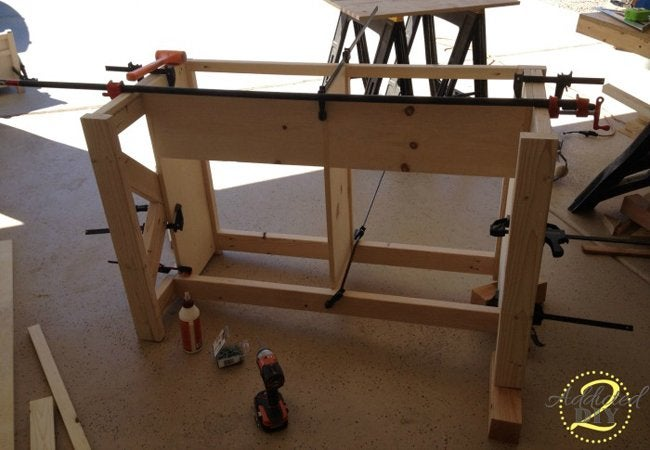 Rustic Craft Room Island Step 3