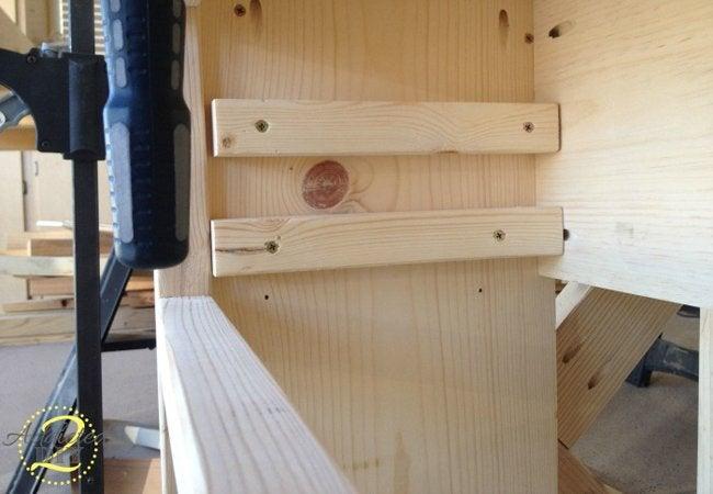 Rustic Craft Room Island Step 6