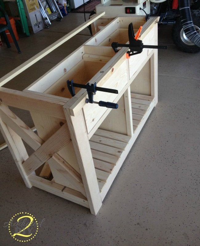 Rustic Craft Room Island Step 7