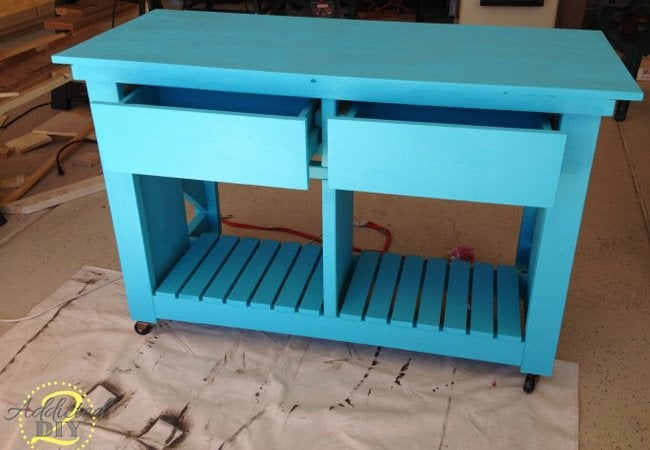 Rustic Craft Room Island Step 8