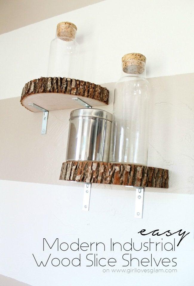 Wood Slice Shelf Opener