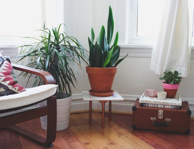 DIY Plant Stand - Marble and Copper