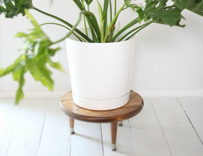 DIY Plant Stand - Mid-Century Modern Style