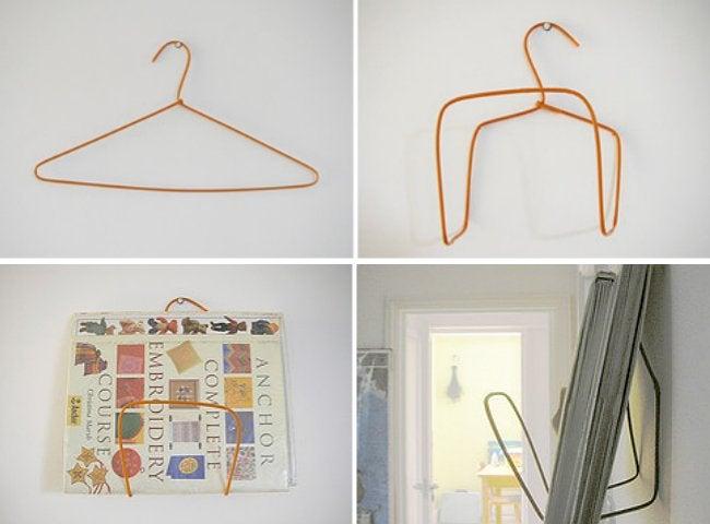 DIY Wire Hanger Shelf