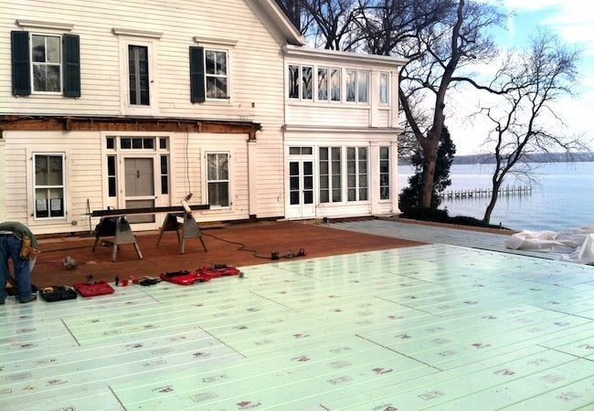 Installing Radiant Heat - Home Addition System