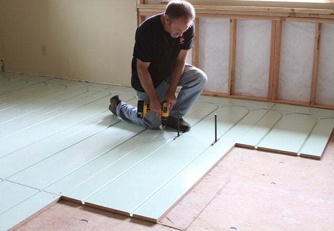 Installing Radiant Heat - Renovation System