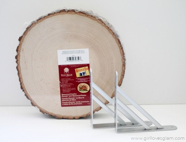 wood slice shelf materials