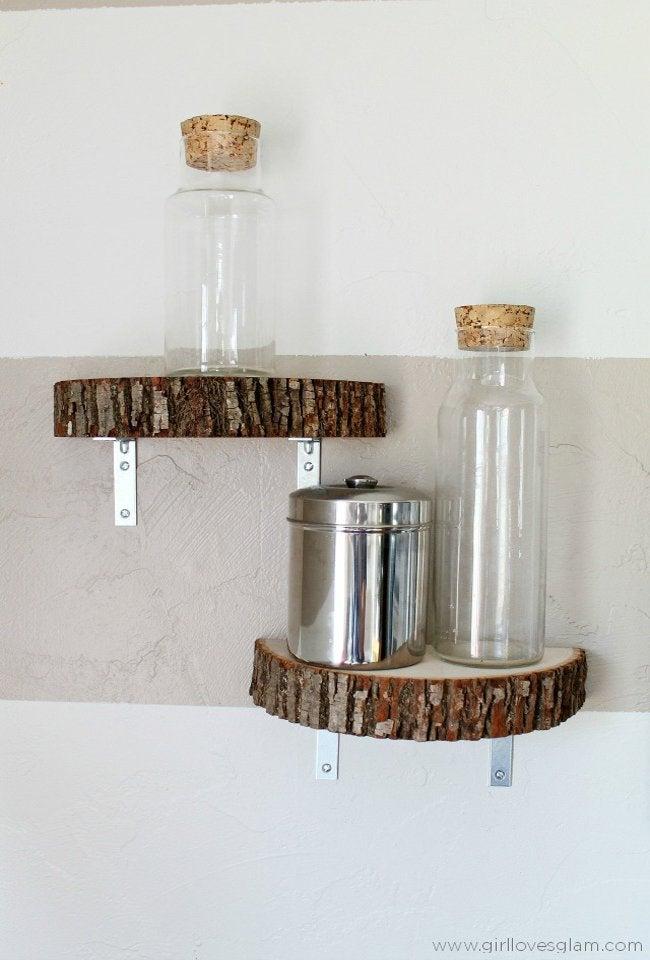 wood slice shelf step 3