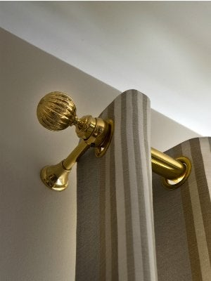 How To Install Curtain Rods - Finials