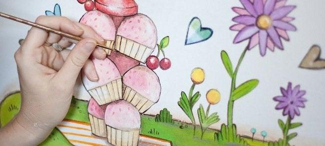 Mural Artist - Cupcake Mural