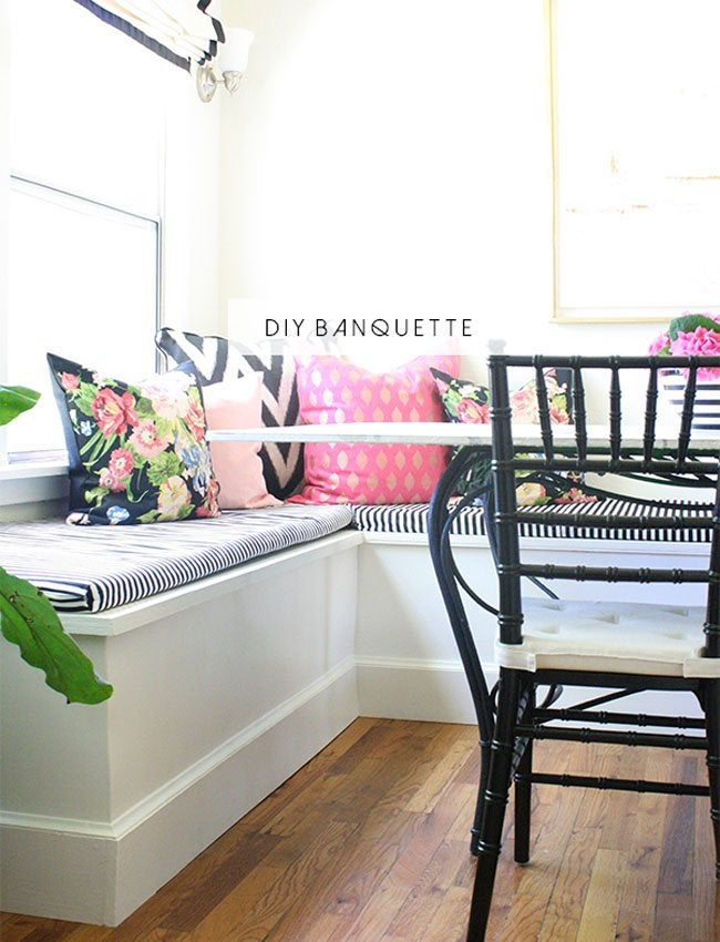 custom banquette end