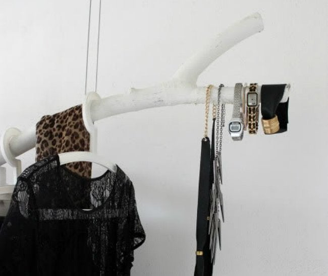 DIY Clothing Rack - Branch Accessories