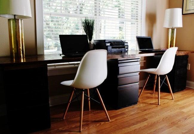DIY Computer Desk - cabinets