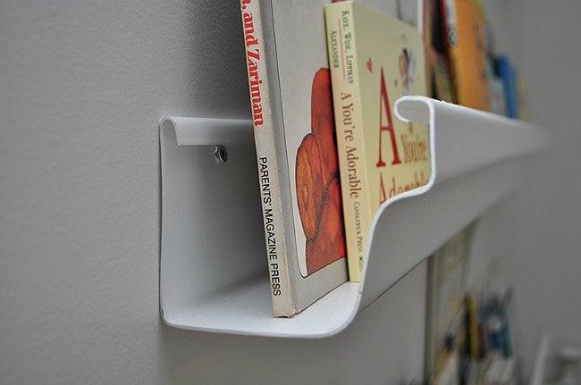 DIY Book Shelf - From a Rain Gutter