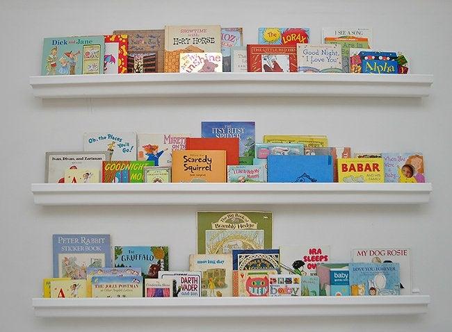 DIY Book Shelf - Gutter Holding Children's Books
