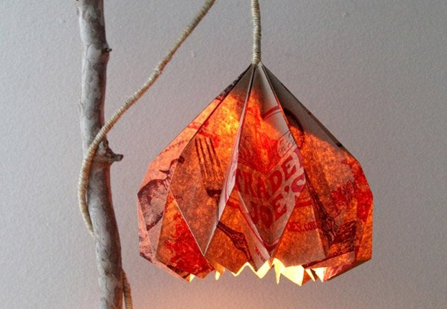 paper bag crafts - DIY lamp