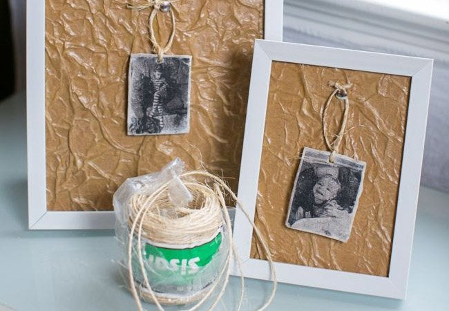 paper bag crafts - frames
