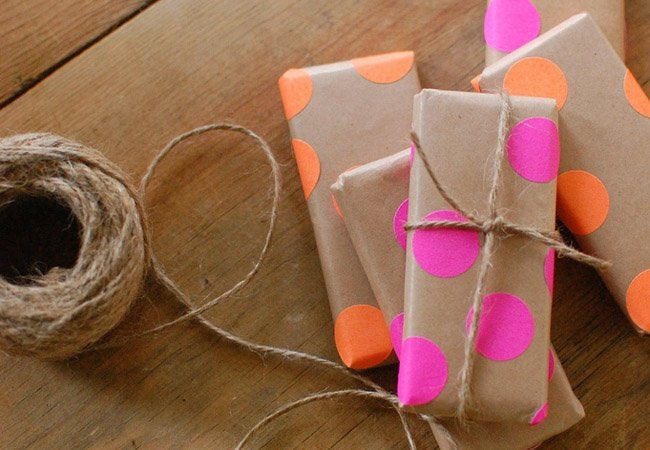 paper bag crafts - wrapping paper