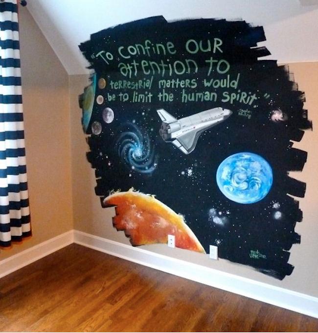 Mural Artist - Space Mural