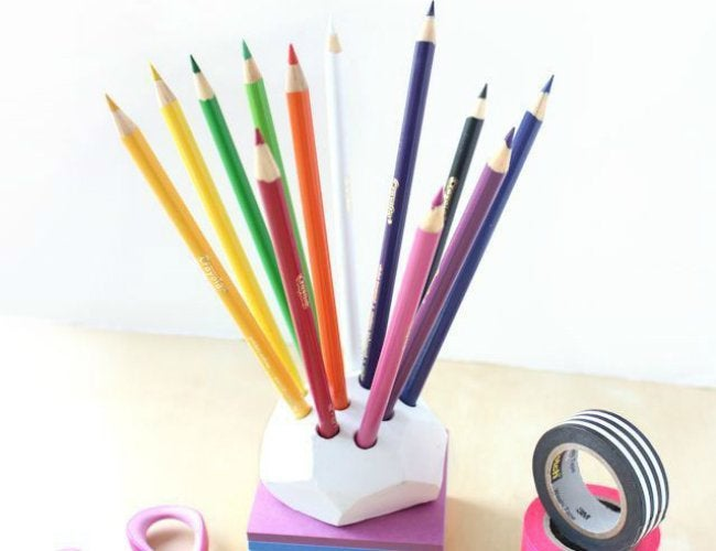 Air Dry Clay Projects - DIY Pencil Holder
