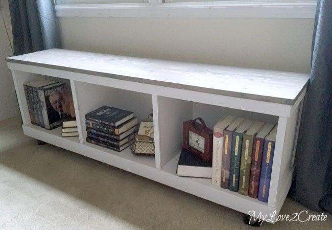 DIY Storage Bench - Cabinet Bench