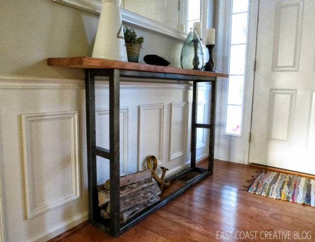 Diy Console Table 5 Ways Bob Vila - Things To Put On Entryway Table