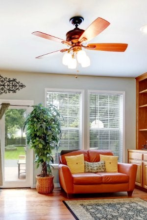 How To Clean Ceiling Fans - Living Room
