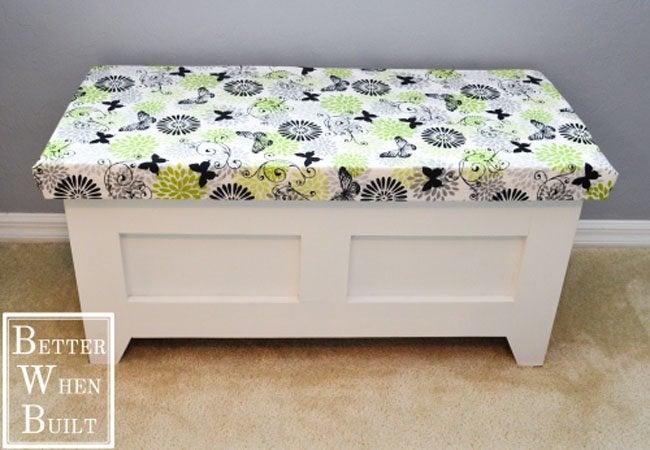 DIY Storage Bench - Open-Top Bench