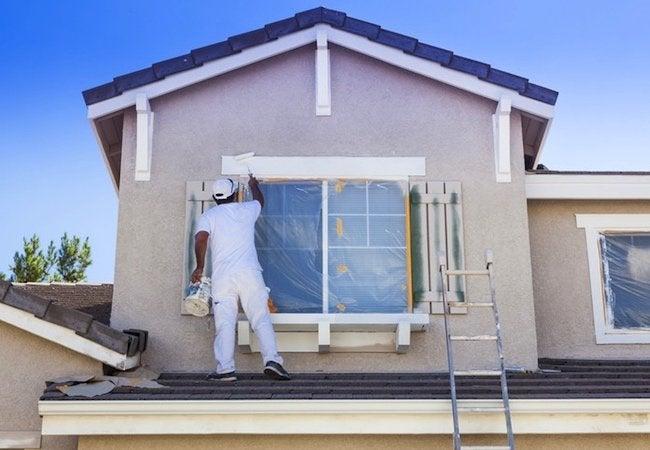 Home Exterior Updates - Trim Painting Shot