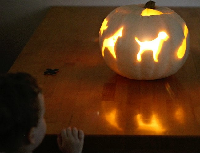 Pumpkin Carving Ideas for Kids - Glowing Pumpkin