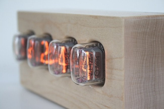 Tungsten Customs - Nixie Tube Clock Side View