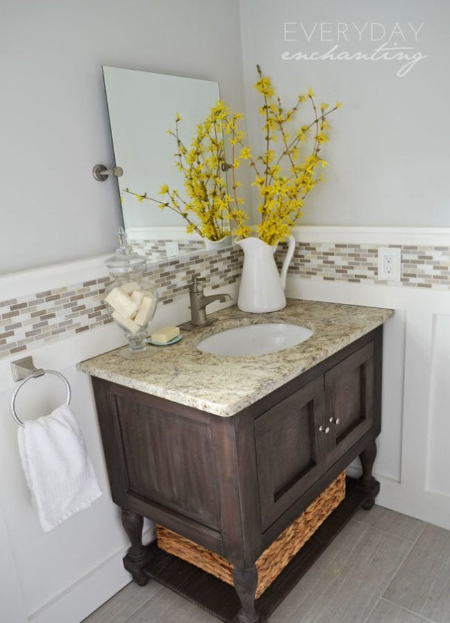 pottery barn inspired sink close