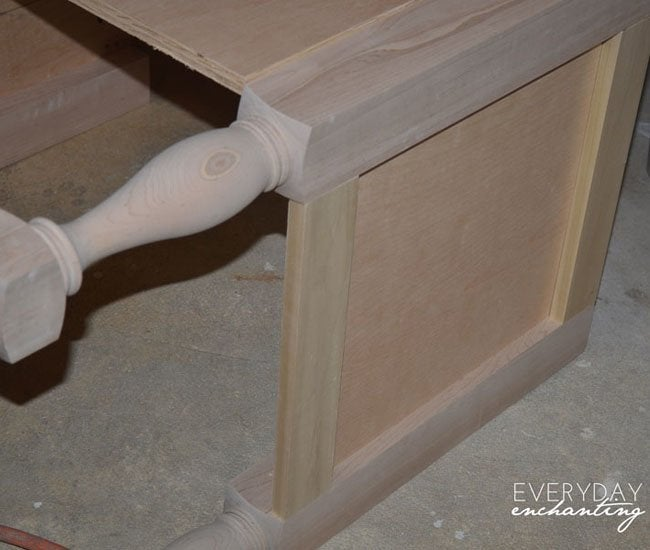 pottery barn inspired sink step 1