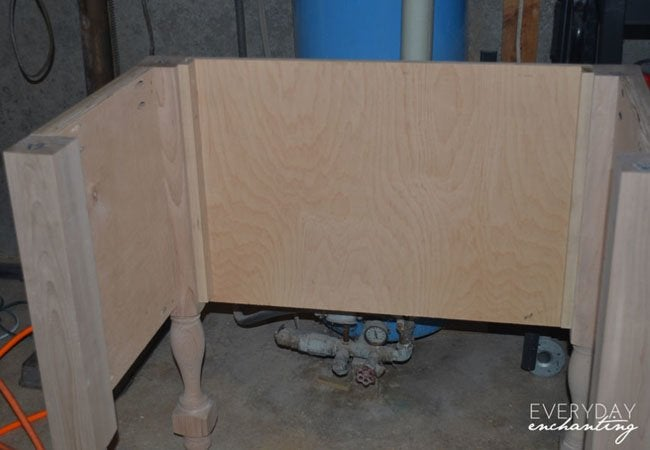 pottery barn inspired sink step 2