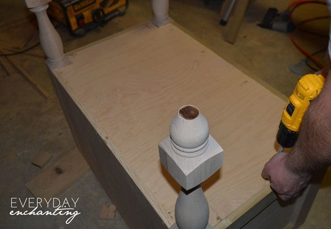pottery barn inspired sink step 4