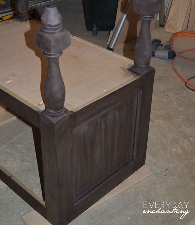 pottery barn inspired sink step 9