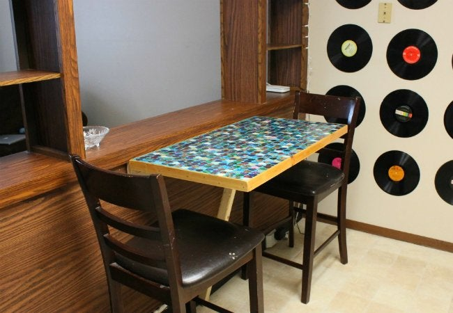 DIY Folding Table - Slim Kitchen Table