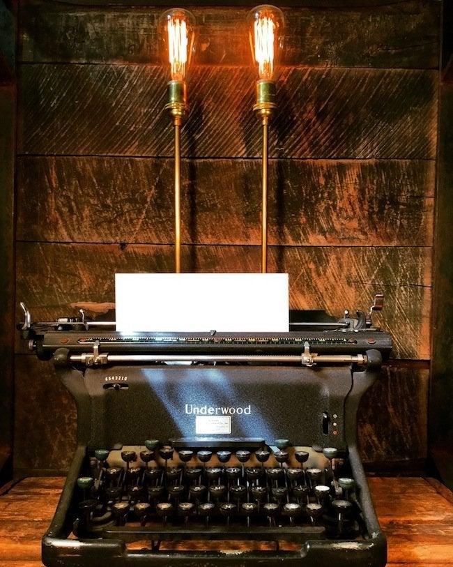 Stonehill Design - Typewriter Lamp