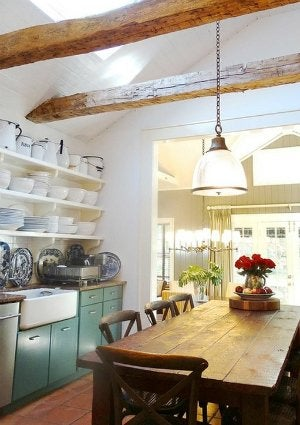 Open Shelving Kitchen - Storing a Ceramic Collection