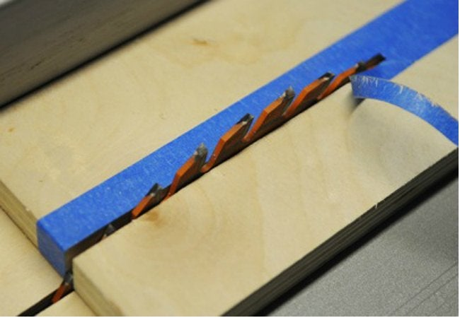 How to Use Painter's Tape - When Sawing