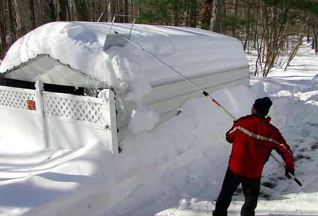 DIY Roof Rake - How to Clear Snow Off of the Roof
