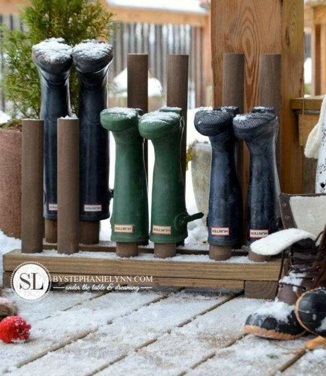 outdoor boot rack