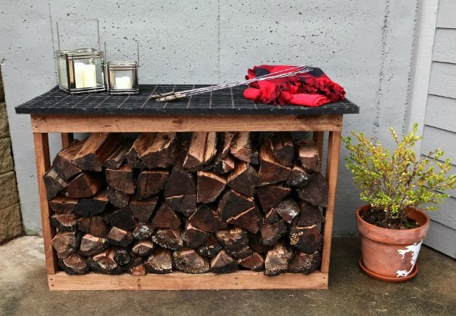 DIY Firewood Rack - Grate