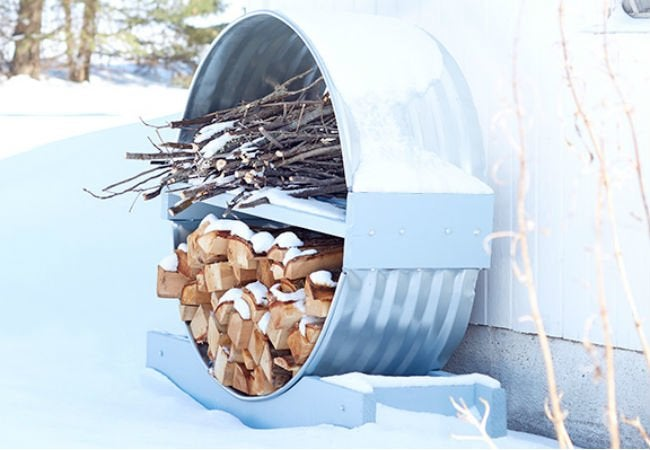 DIY Firewood Rack - Window Well