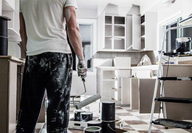 Painting Laminate Cabinets - Kitchen Paint Job