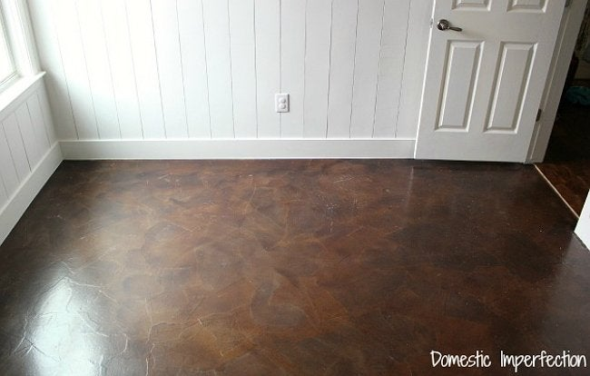 Paper Bag Flooring - Finished Floor by Domestic Imperfection