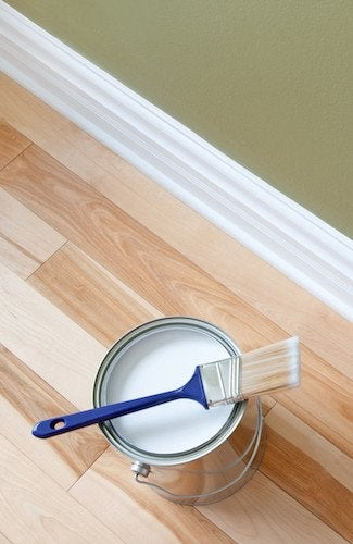 How to Paint Baseboards - Detail View